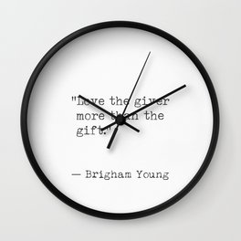 Christmas quote 3 Wall Clock