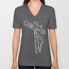 The God ( Modern Religious Art ) Unisex V-Neck