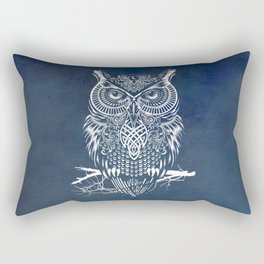 Warrior Owl Night Rectangular Pillow
