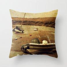 Blakeney Boats 2 Throw Pillow