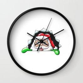 Santa Claus End 2020 happily 3D gift v2 Wall Clock