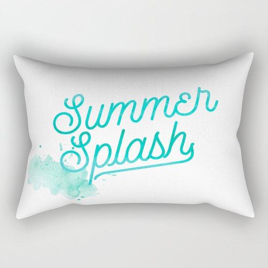 Summer splash- Typography - Holiday Beach Maritime Fun Water Rectangular Pillow