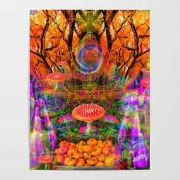 Hypnotic Autumn Magic Poster