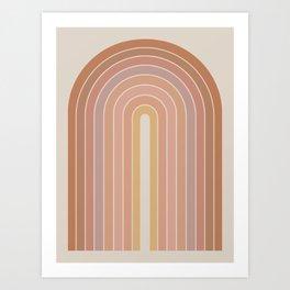 Gradient Arch - Natural Tones Art Print