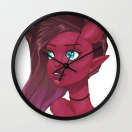 Demon bust Wall Clock
