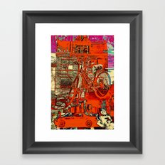 Toronto bicycle dreams Framed Art Print