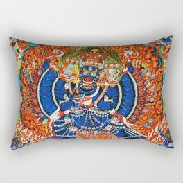 Tantric Buddhist Vajrabhairava Deity 3 Rectangular Pillow