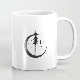 Minimal Nature Design :: Moon + Tree Coffee Mug