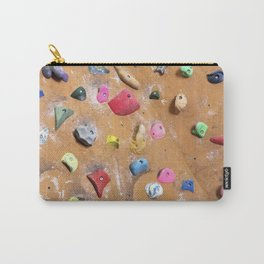 Wooden boulders climbing gym bouldering photography Carry-All Pouch