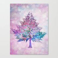 christmas tree Canvas Prints featuring Christmas Tree by Klara Acel