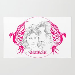 Grease (Sketch & bird design) Rug