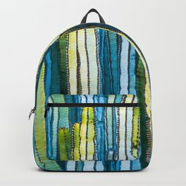 Colorful cactus painting Backpack