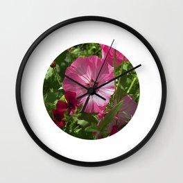 summer mallow VII Wall Clock
