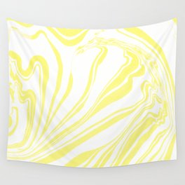 Yellow Marble Ink Watercolor Wall Tapestry