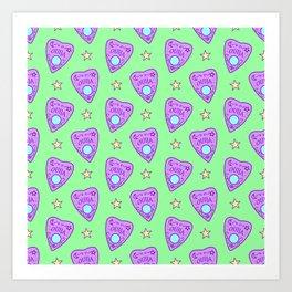 Planchette Pattern on Green Art Print