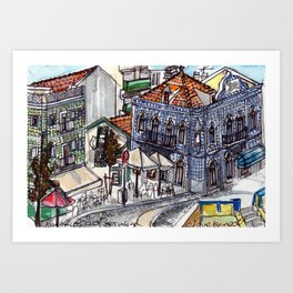 Buarcos, Portugal Art Print