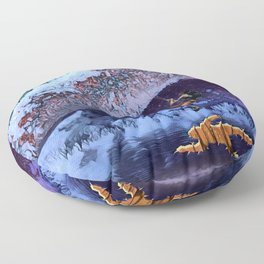 Escaping the Freeze. Floor Pillow