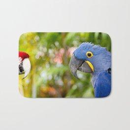 Blue Hyacinth Macaw - Anodorhynchus hyacinthinus Bath Mat