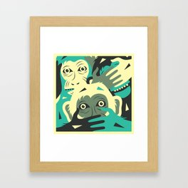 NO EVIL Framed Art Print