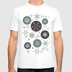 Snowflakes Part Deux MEDIUM Mens Fitted Tee White