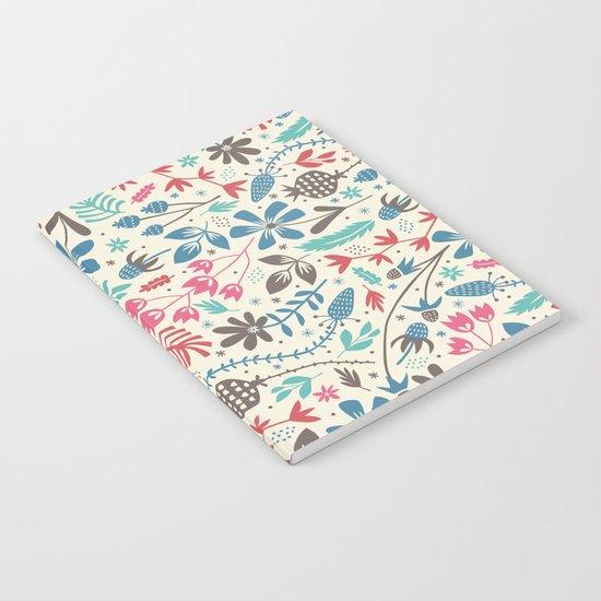 Retro Blooms Notebook