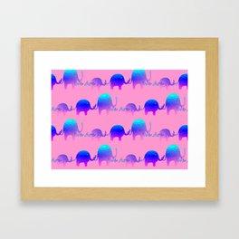 We Are Family - Elephants Framed Art Print