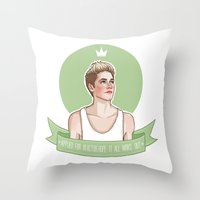 niall horan Throw Pillows featuring Niall Horan by vulcains
