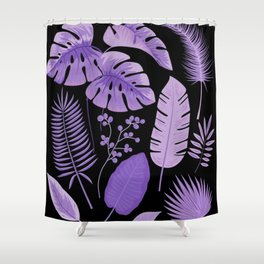 Purple leaves Shower Curtain