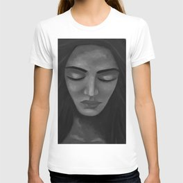 On My Mind by Lu, black-and-white T-shirt