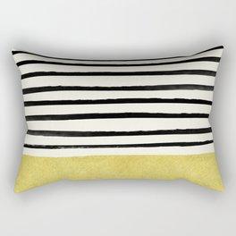 Gold x Stripes Rectangular Pillow
