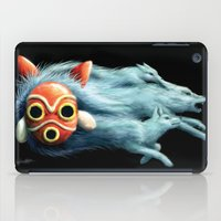 princess mononoke iPad Cases featuring Princess Mononoke by Lara Frizzell