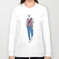terrier Long Sleeve T-shirts featuring Terrier by Nathalie Otter