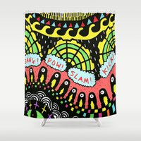 psycho Shower Curtains featuring Psycho by Saif Chowdhury