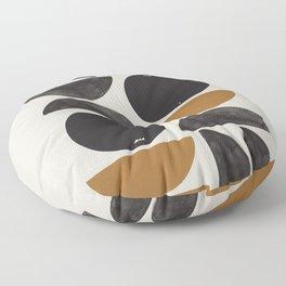 Geometry Shape Mid Century Organic Art Print Floor Pillow