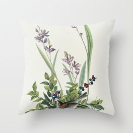 Field Sparrow from Birds of America (1827) by John James Audubon etched by William Home Lizars Throw Pillow
