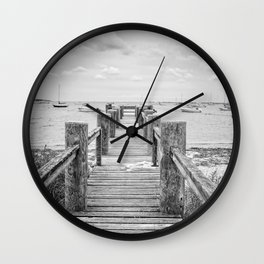 Old Dock Hyannis Port Cape Cod Ma Wall Clock