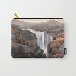 Subtly hidden waterfall of Kvernufoss, South Iceland Carry-All Pouch