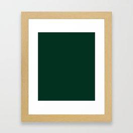 Deep Green Framed Art Print