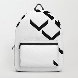 3D PFEILE EFFEKT – geometrische Wandposter schwarz weiss Backpack