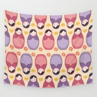 russian Wall Tapestries featuring Russian Dolls by ItsJessica