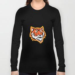 Bengal Tiger Head Mascot Long Sleeve T-shirt