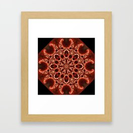 Fractal Nautilus Mandala (red) Framed Art Print