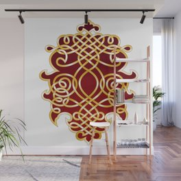 Ornate Royal Red and Gold Wall Mural