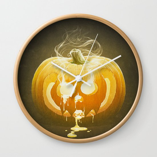 Pumpkin II. Wall Clock