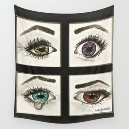 Eyes Show Emotions Wall Tapestry