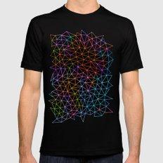 Geometric Glow Black Mens Fitted Tee X-LARGE