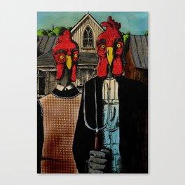 Chicken Gothic Canvas Print