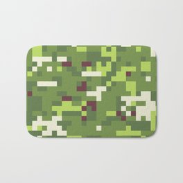 Camouflage military background in pixel style Bath Mat
