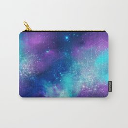 Metatron's Cube on Watercolor Background Carry-All Pouch