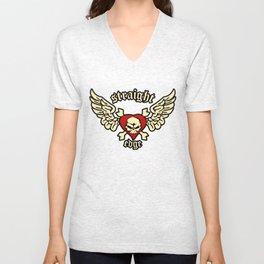 Strage Edge Skull Unisex V-Neck